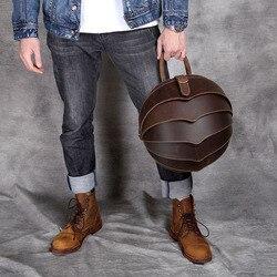 Hohe Qualität Aus Echtem Leder Rucksack Mode Männer Frauen Crazy Horse Leder Schule Tasche Persönlichkeit Vintage Handgemachte Daypacks