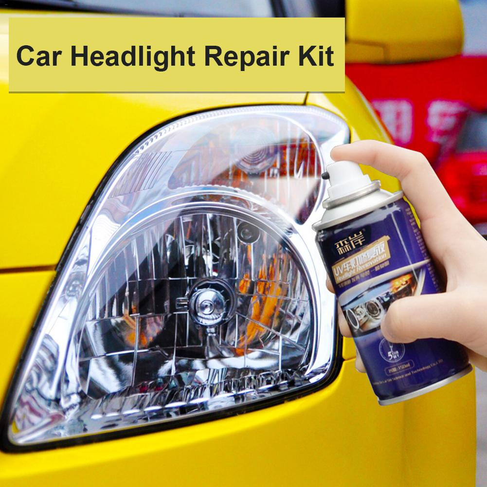 Coat Liquid-Spray Car-Headlight Restoration-Kit Repair-Agent Scratches Polishing Hardness