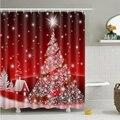 Счастливого Рождества Декор для дома Санта-Клаус занавеска для душа сонный Снеговик узор водонепроницаемый ванная душевая занавеска для в...