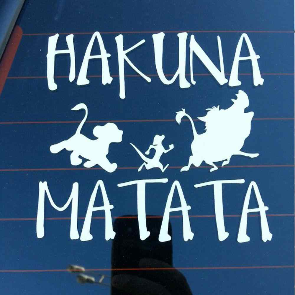 Light 13.8 CM * 13.3 Cm Stiker Mobil untuk Kendaraan Tubuh Stiker untuk Hakuna Matata Lion King Simba Mobil- styling Vinyl Stiker Mobil