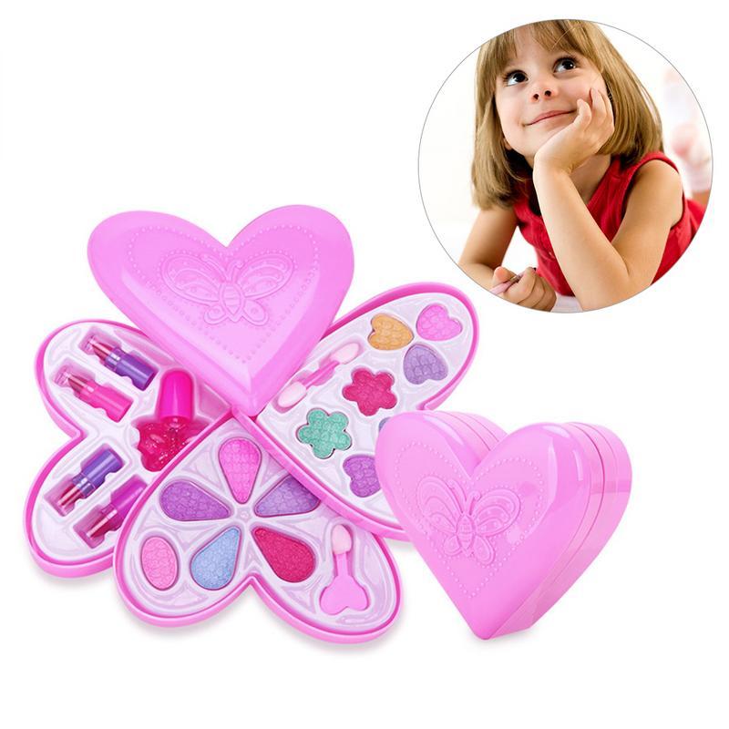 1 Satz Neue Heiße Verkauf Make-up Spielzeug Baby Mädchen Pretend Spielen Sicher Kinder Mädchen Make-up Kit Spielzeug Kosmetik Spielen Sets Beste Geschenke Für Kinder SorgfäLtig AusgewäHlte Materialien