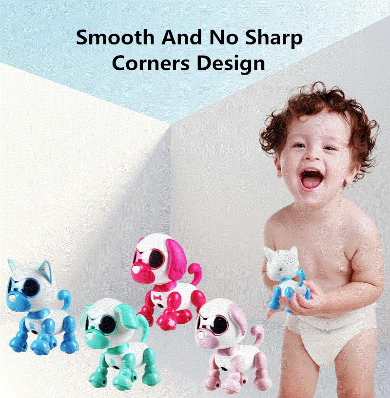 Electronic LED Eyes Sound Sleep Recording Cute Toy Induction Smart Puppy Robotic Dog