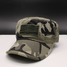 2018 New Classic Camouflage Men Military Caps Army Cadet Hats Cotton Adjustable Flat Top Patrol Cap