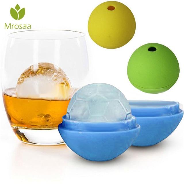 Mrosaa moule en brique rond réutilisable | Boule à Cocktail, whisky Soccer glaçons, moule en forme de boule à glace, accessoires de Bar maison