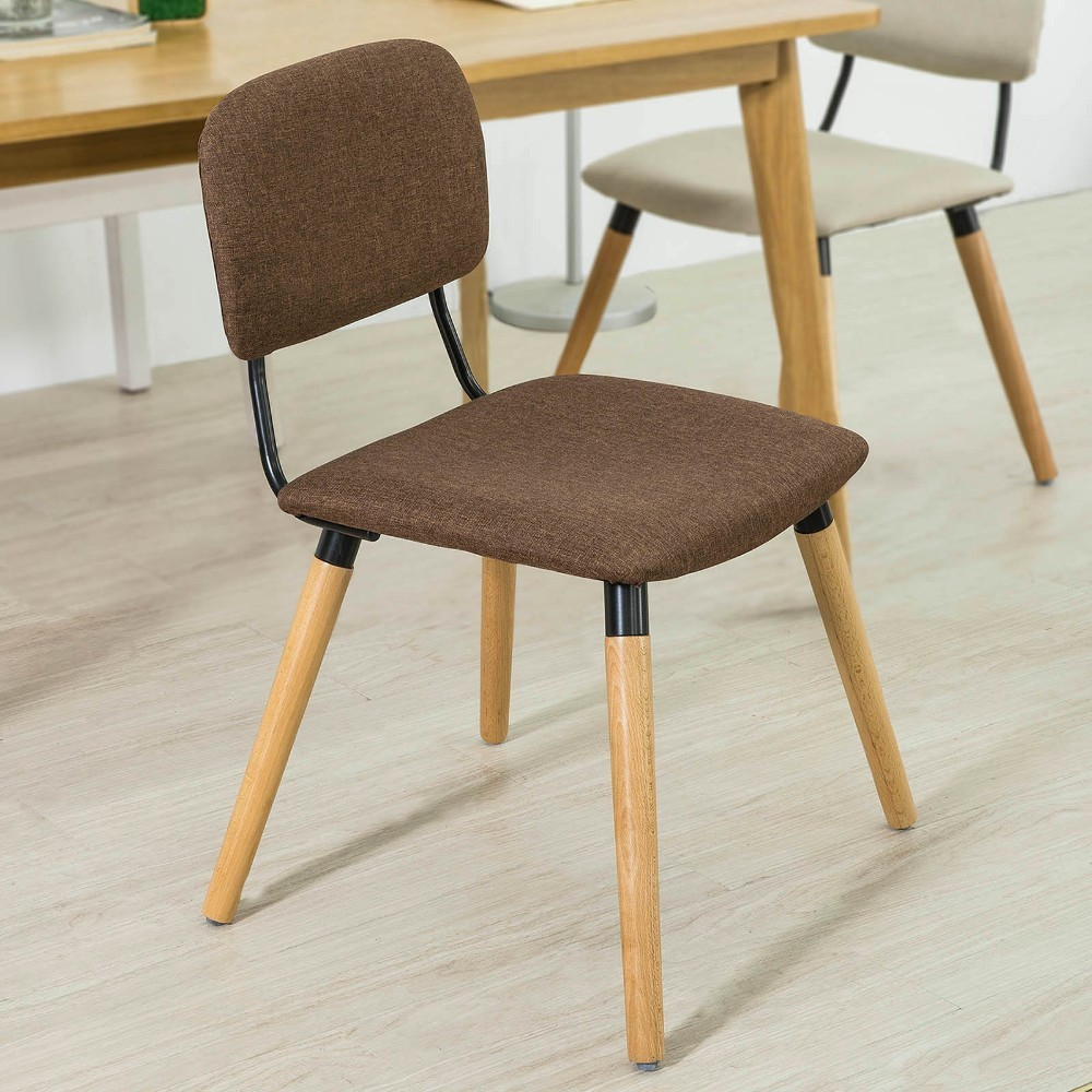 все цены на SoBuy FST54, Dining Chair Kitchen Chair Office Chair, Fabric Upholstered Seat & Backrest with Wooden Legs