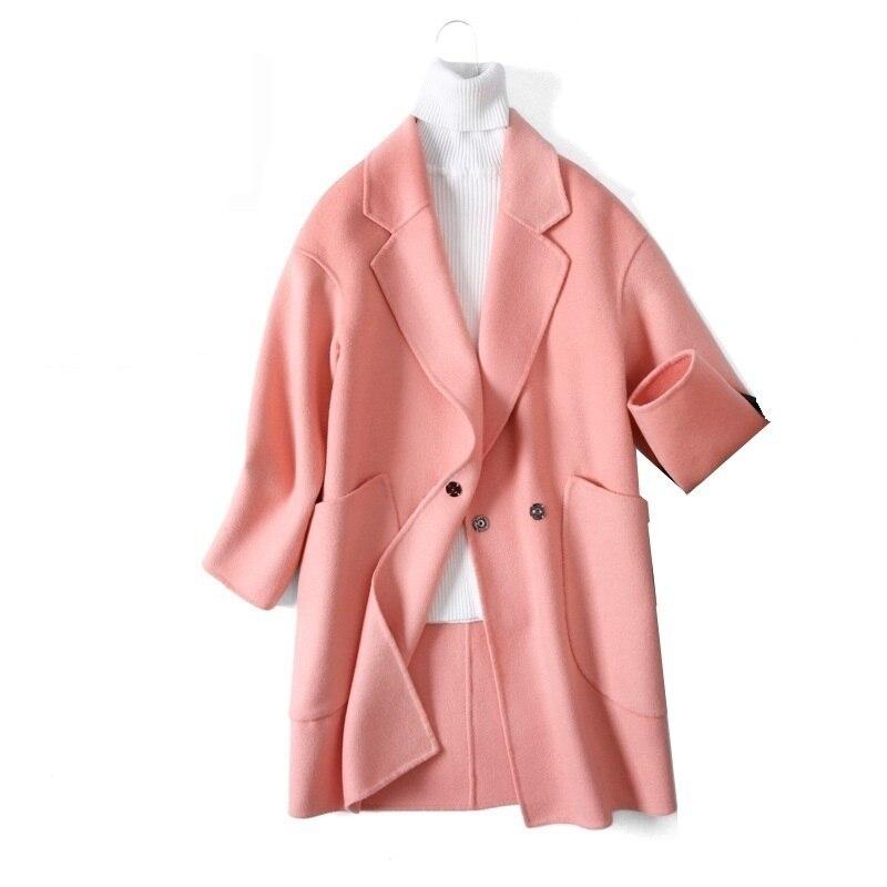 Cappotto Donna De Elégantes Campera Mujer Abrigo Invierno 2018 Femmes Automne Hiver Slim Fit Casual Laine Long Manteau De Laine