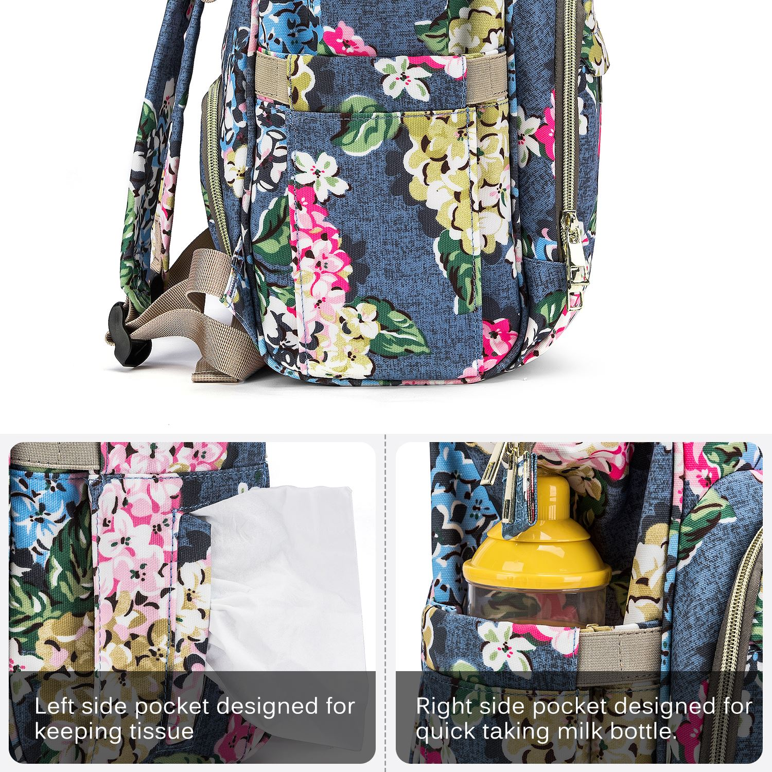 CoolBELL Baby Diaper Bag Fashion Mummy Maternity Nappy Bag Large Capacity Travel Backpack Baby Care Nursing Stroller Bags