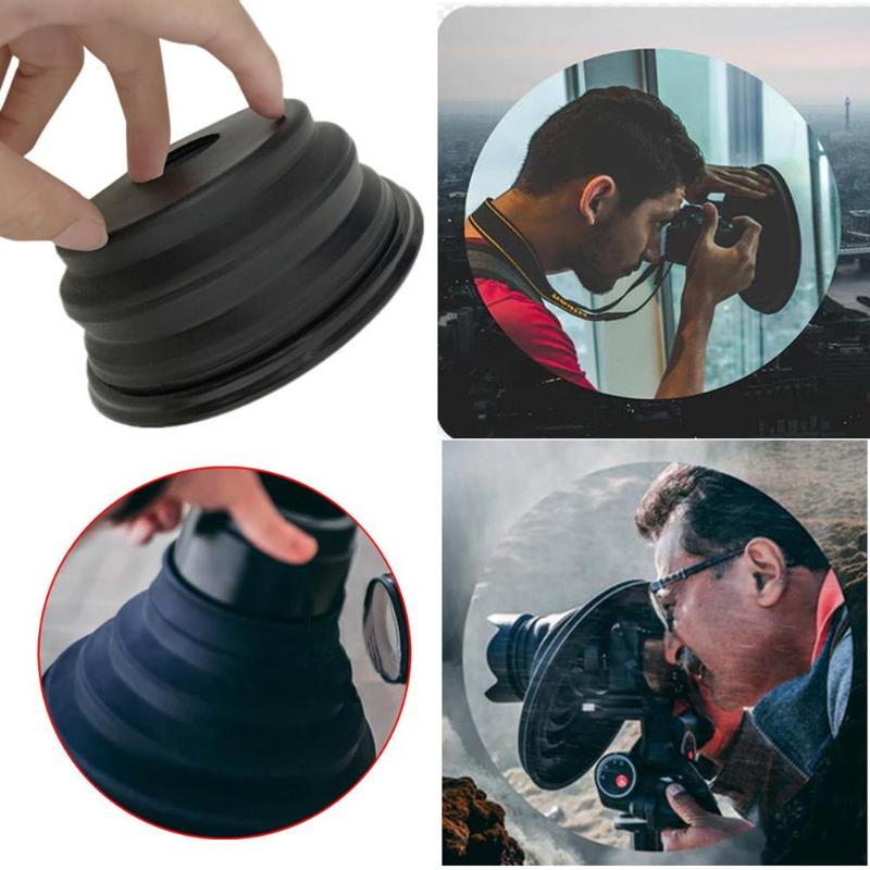 Silicone Lens Hood Ultimate Lens Cover For Camera Images Videos Photographers Reflection-free Anti-glass Lens Hood Collapsible