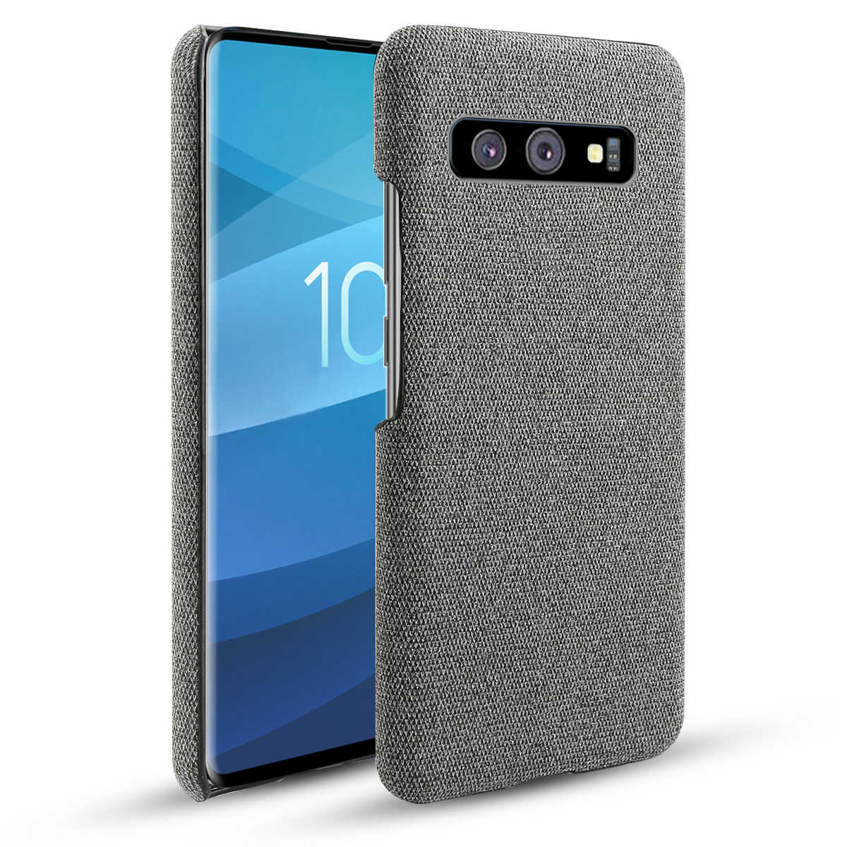 Voor Samsung Galaxy S10 S10 Plus S10E S10 5G Case Slim Anti-kras Geweven Stof Doek Hard PC cover Voor Samsung S10 Note 10 Case