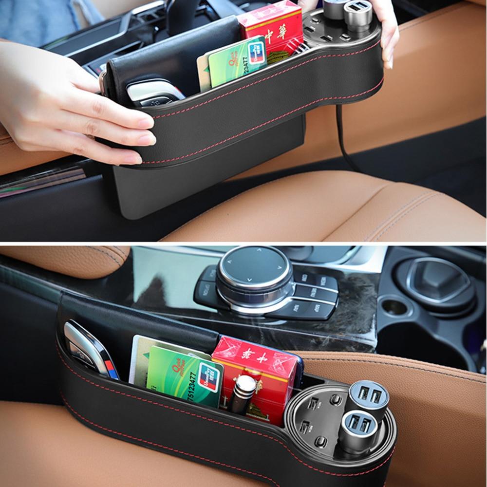 Siège Auto Crevice boîte de rangement tasse porte-boissons organisateur Auto Gap poche rangement rangement pour téléphone Pad carte etui voiture accessoires