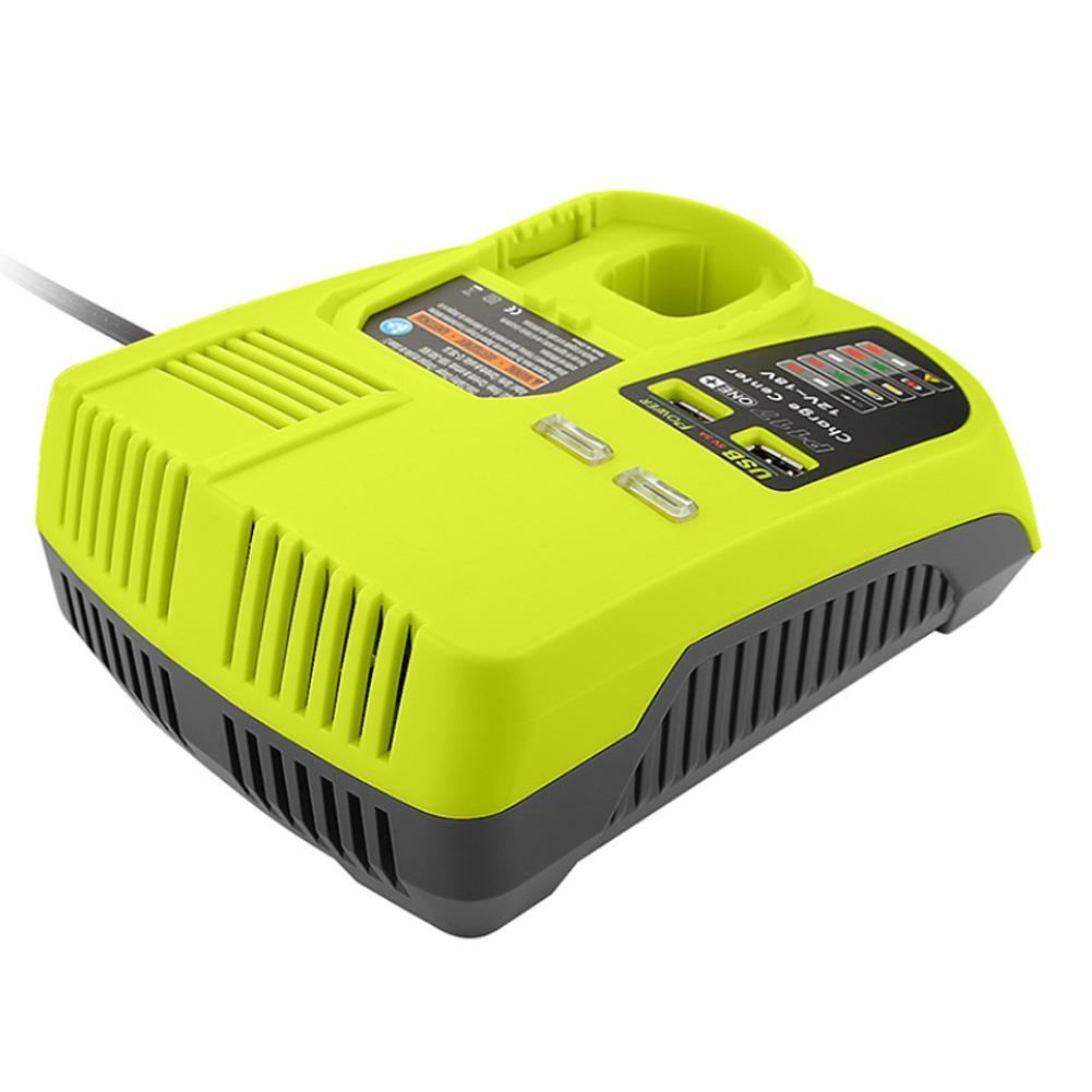 For RYOBI P117 12V 18V Lithium Nickel Universal Battery Charger With USB Interface
