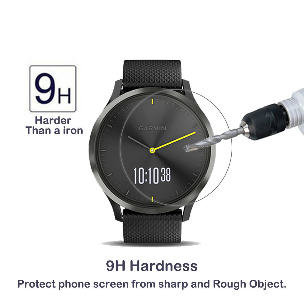2Pack For Garmin Vivomove HR 0.3mm 2.5D 9H Tempered Glass Screen Protector Ultra Clear Scratch Proof Glass Protector For Garmin