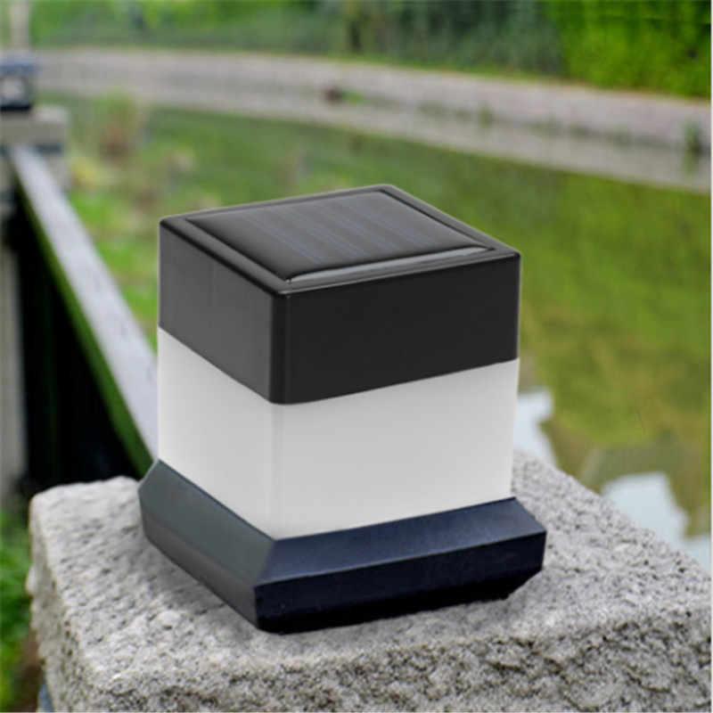 CLAITE солнечный светильник для забора водонепроницаемый для уличного освещения светодиодный пост крышка лампа Сад Двор бассейн лампа квадратный аварийный свет