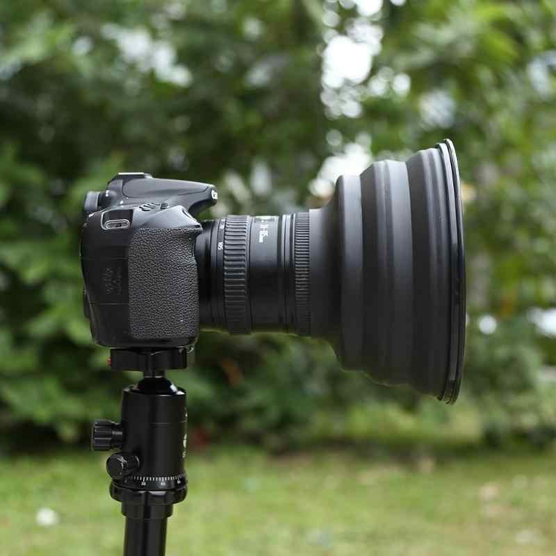 Phản Xạ-Miễn Phí Ốp Dẻo Silicone Lens Hood Cuối Cùng Ống Kính Chống Kính Lens Hood Cho Hình Ảnh Camera Video Nhiếp Ảnh Gia