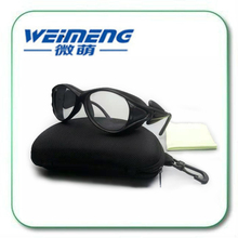 Weimeng 355nm  Fashion Glass Material Black Frame UV Protective Safety Goggles & glasses For 100-400nm Laser Operator