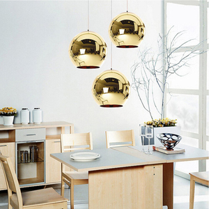 Image 5 - Coquimbo Globe Pendant Lights Copper Glass Mirror Ball Hanging Lamp Kitchen Modern Lighting Fixtures Hanging Light