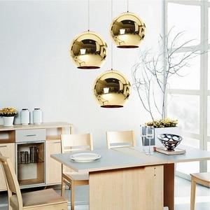 Image 5 - Coquimbo Globe pendentif lumières cuivre verre miroir boule suspension lampe cuisine moderne luminaires suspendus lumière