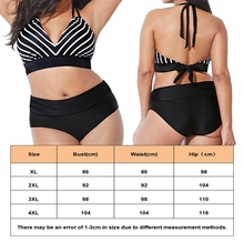 Plus Size Striped Bandage Bathing Suit