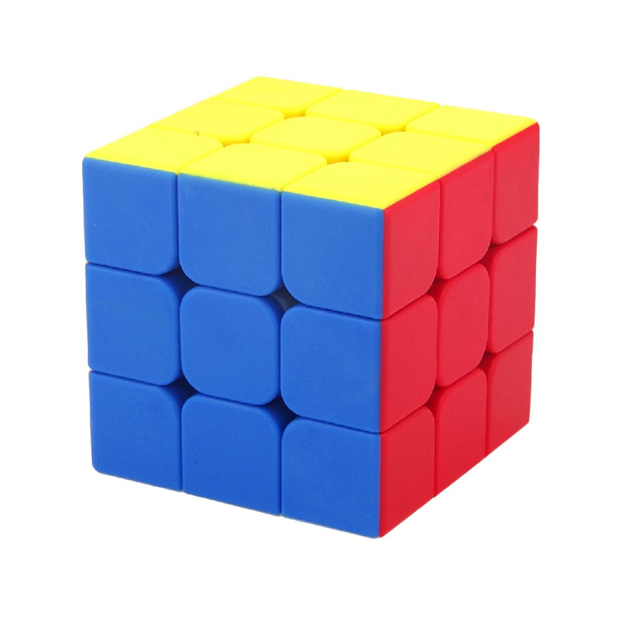 MF3s 3x3x3 Frosted and Colorful Stickerless Magic Cube Puzzle - 6-ColorMF3s 3x3x3 Frosted and Colorful Stickerless Magic Cube Puzzle - 6-Color
