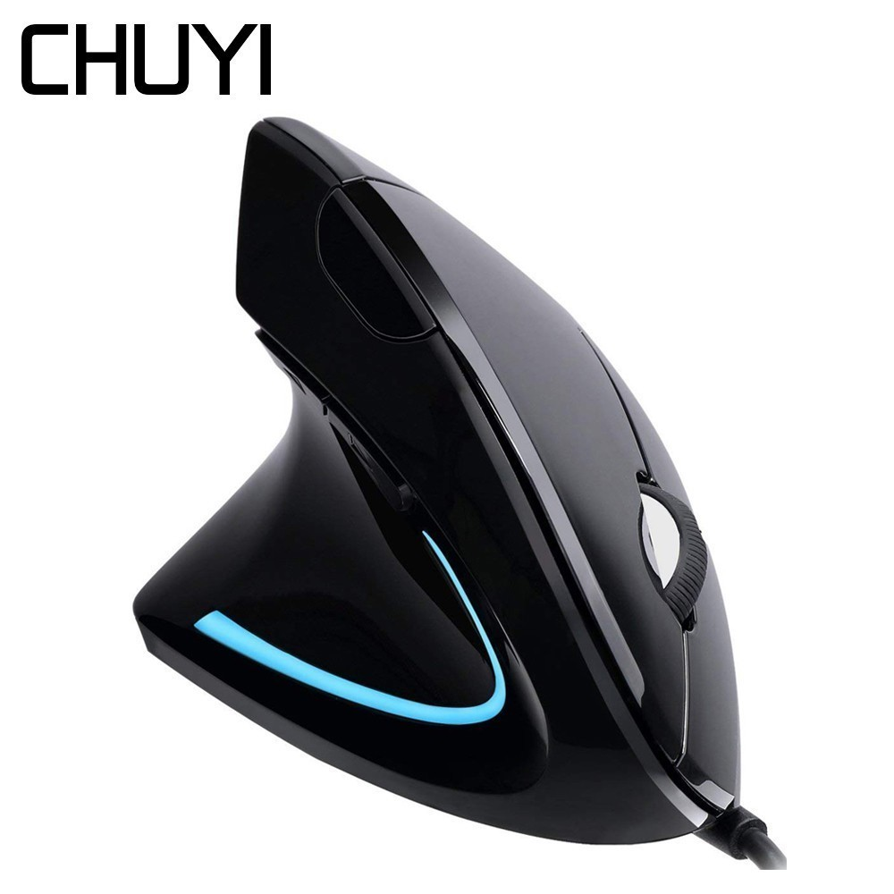 Wired Left Hand Vertical Mouse Ergonomic Computer Gaming Mice 1600DPI USB Optical Wrist Rest Mause With Mouse Pad For PC Gamer