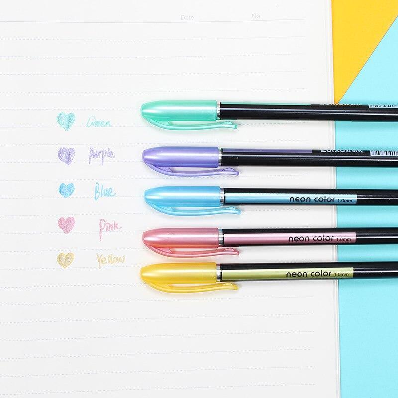 12PCS Kawaii Highlighter Gel Pens Novelty Gel Pens Cute Colorful Gel Pens For Kids Gift School Office Supplies Stationery