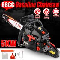 Professional Chainsaw 20 5000W Bar Gas Gasoline Powered Chainsaw 65cc Engine Cycle Chain Saw Wood Cutting Grindling Machine