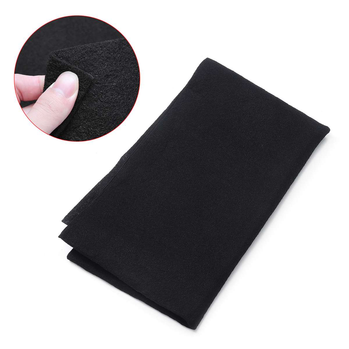 47*114cm Black Cooker Hood Extractor Activated Carbon Filter Sponge Cotton For Smoke Exhaust Ventilator Kitchen Range Hood Parts
