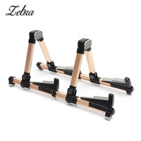 2 in 1 Double Holders Guitar Stand Adjustable Stand Folding Music Stand Support Holders for Electric Guitar Bass Guitar