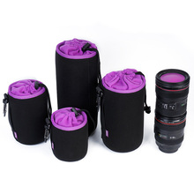 Waterproof DSLR Camera Lens Bag Cases Cover Soft Video Pouch Case Padded Protector for Canon Nikon Sony
