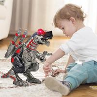 Kids Electric Alloy Dinosaur Warrior Vocal Luminous Electronic Toy Child Birthday Present