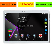 2019 New 10 inch tablet PC Octa Core 4GB RAM 128GB ROM Android 8.0 WiFi Bluetooth Dual SIM Cards 3G 4G LTE Tablets 10.1+Gifts