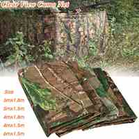 5 Size Multi-function Camo Net Blind Netting Birds Decoy Hunting Woodland Camping Military Camouflage Netting Mesh Lightweight