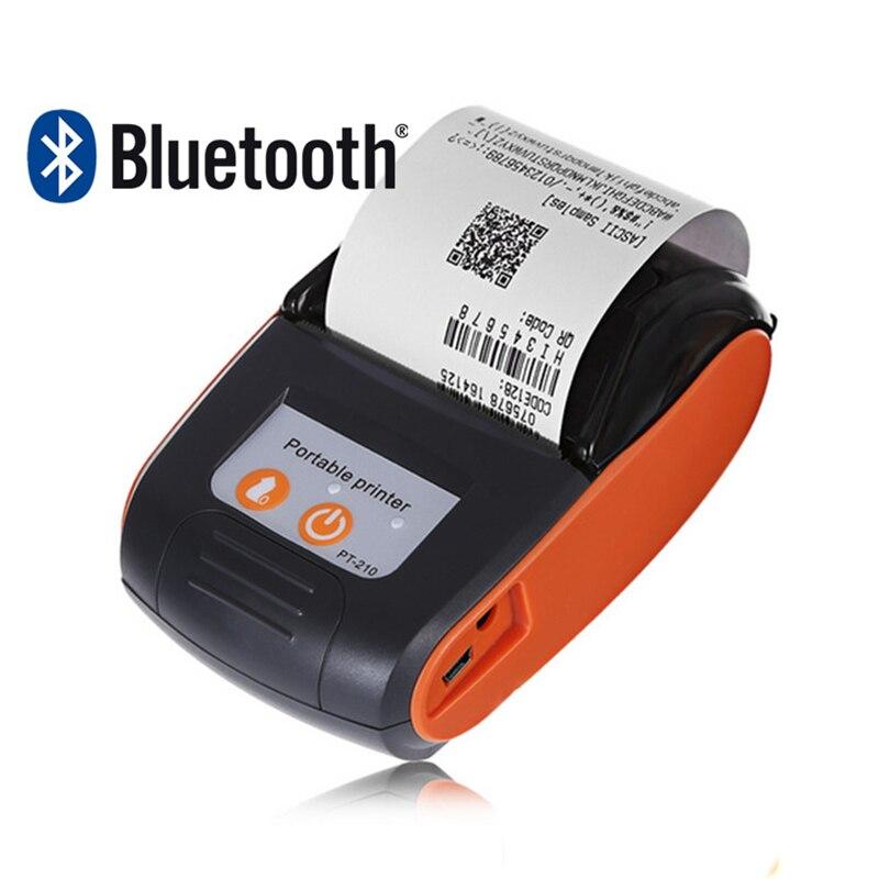 Mini 58mm Thermische Printer Draadloze Bluetooth Usb Ontvangst Ticket Printer Pos Voor Winkel Compatibel Voor Ios Android Aangenaam Voor Het Gehemelte
