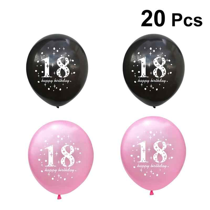 20pcs 18th Birthday Balloons Pearl Latex Photo Background Party Decorations Supplies For Adults Men