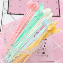 Tea-Spoon Ice-Cream-Tools Kitchen-Accessories Coffee Long-Handle Plastic Disposable Mini