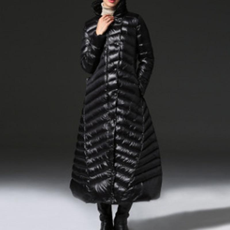 Le Poitrine Longue Printemps Vestes Le094 Chaud Bas eam Épais Longues 2019 Lâche Black Vers Unique Femme Montant Col Noir Couleur Manches 85a5PqwU