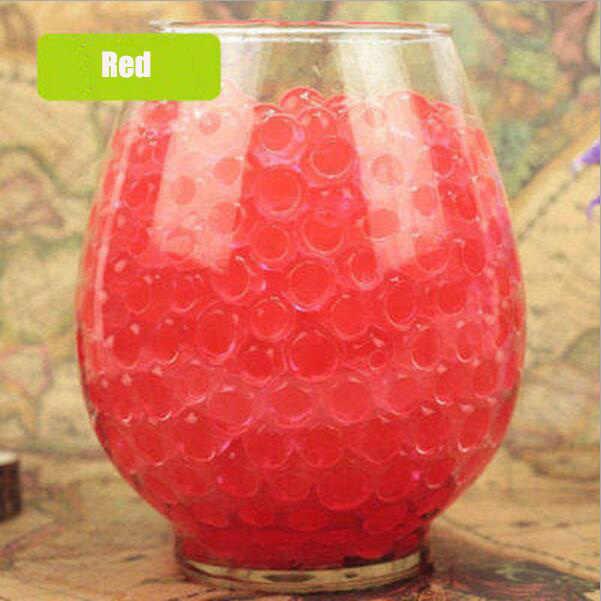 Sobre 100 pçs/lote água vermelha contas de bebê cristal do solo contas de água lama crescente bola de água bolas mágicas decoração para casa casamento hidrogel
