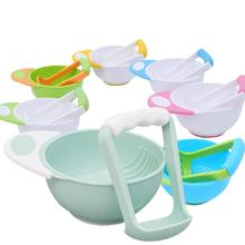 Детские пищевые комбинаты и контейнер, набор чаш, Ручная шлифовка, посуда для младенцев, инструмент для приготовления пищи, миска для кормления, Детские Контейнеры для фруктов