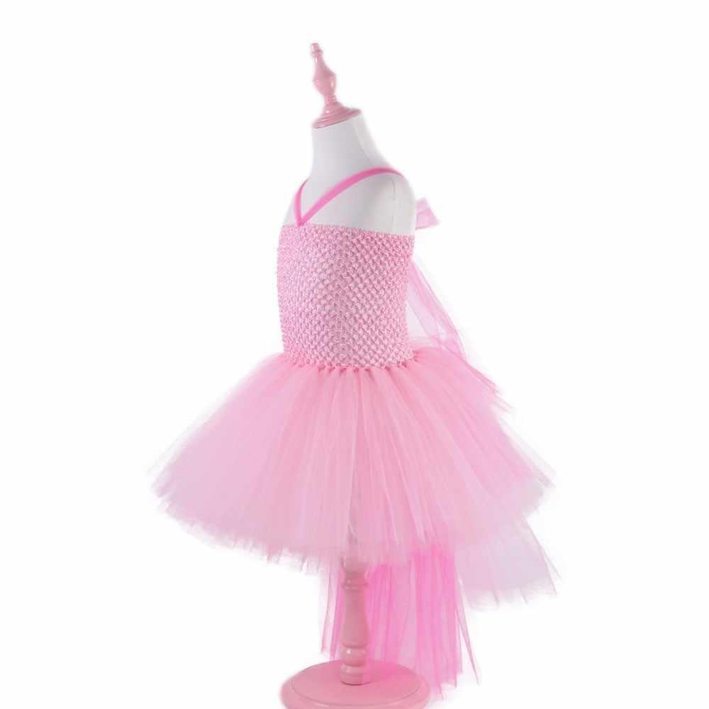 ורוד ועלה אדום ילדה פלמינגו חג המולד ילדים שמלת פרח ילדה בגדי ילדות קטנות מסיבת חתונת תלבושות יום הולדת שמלה