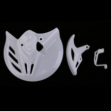 цены Motorcycle Front & Rear Brake Disc Rotor Guard Cover Protector White Fit Honda CRF 250R 2014-2017 450R 2013-2016 Predrilled
