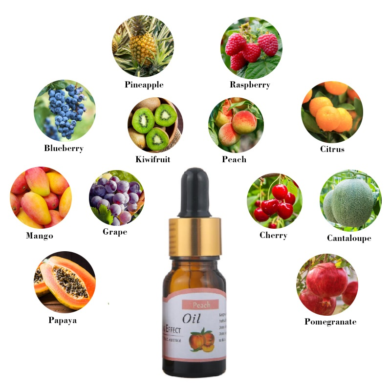 10ml Fruit Peach Pour Essential Oils For Humidifier For Diffuser Aromatherapy Oil Relieve Stress Blueberry Grape Skin Care TSLM2