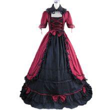 e42ccbb95 Halloween gótico victoriano período las mujeres fiesta de Lolita vestidos  personalizados manga larga Patchwork de rendimiento