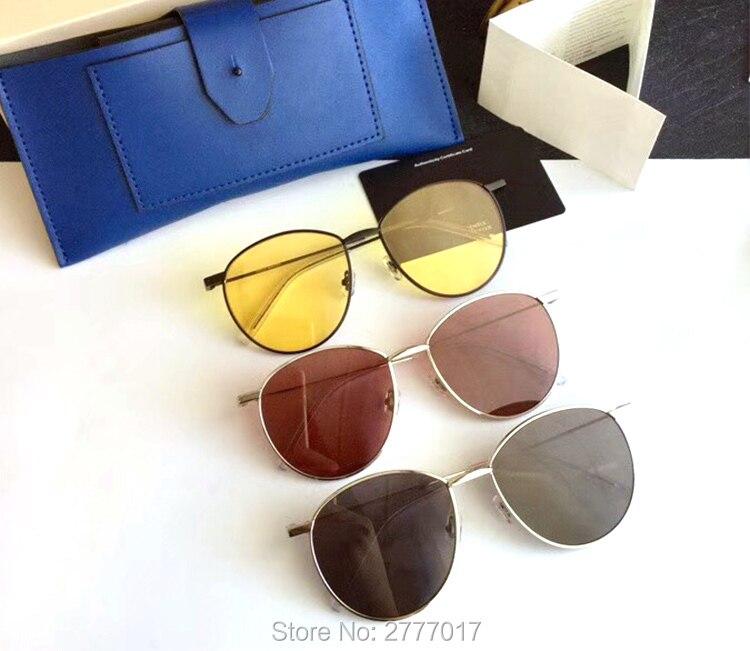 2019 BAGUETTE titanium metal sunglasses Vintage Women Night vision goggles Gentle Sunglasses Ocean UV400 Lens Round