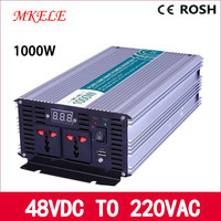 12 Volt 220 Volt Votage Converter MKP1000 122 Off Grid Pure Sine Wave 1000w Inverter LED Display Solar Inverter