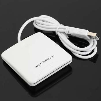 White USB High Speed Contact Smart Chip Card IC Cards Reader Writer For Bank Card Credit Card Readers