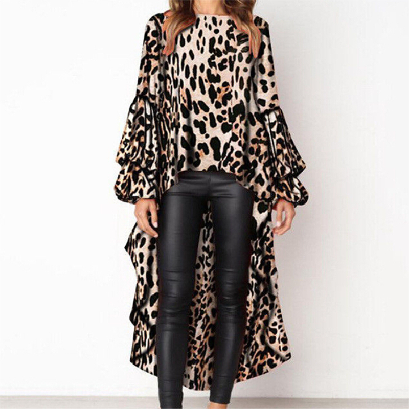 Women Leopard Print Blouse New Loose Blouse Long Tops Ladies Blouses And Tops Fashion Party Blouses For Women Tops Sexy Shirts