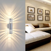 6W LED Dual Head Up Down Wall Light Outdoor Security Light Porch Outside House Garden Wall Lamp Decoration Lighting