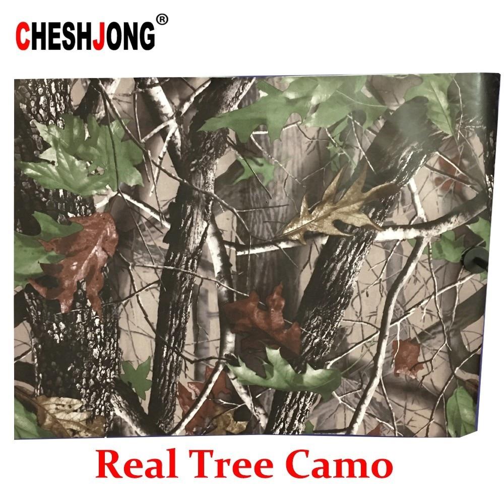 50*200cm Camouflage Car Wrap Real Camo Tree Vinyl Break up Jumbo Leaf Graphic PVC Car Styling Sticker Film Golf Cart Truck