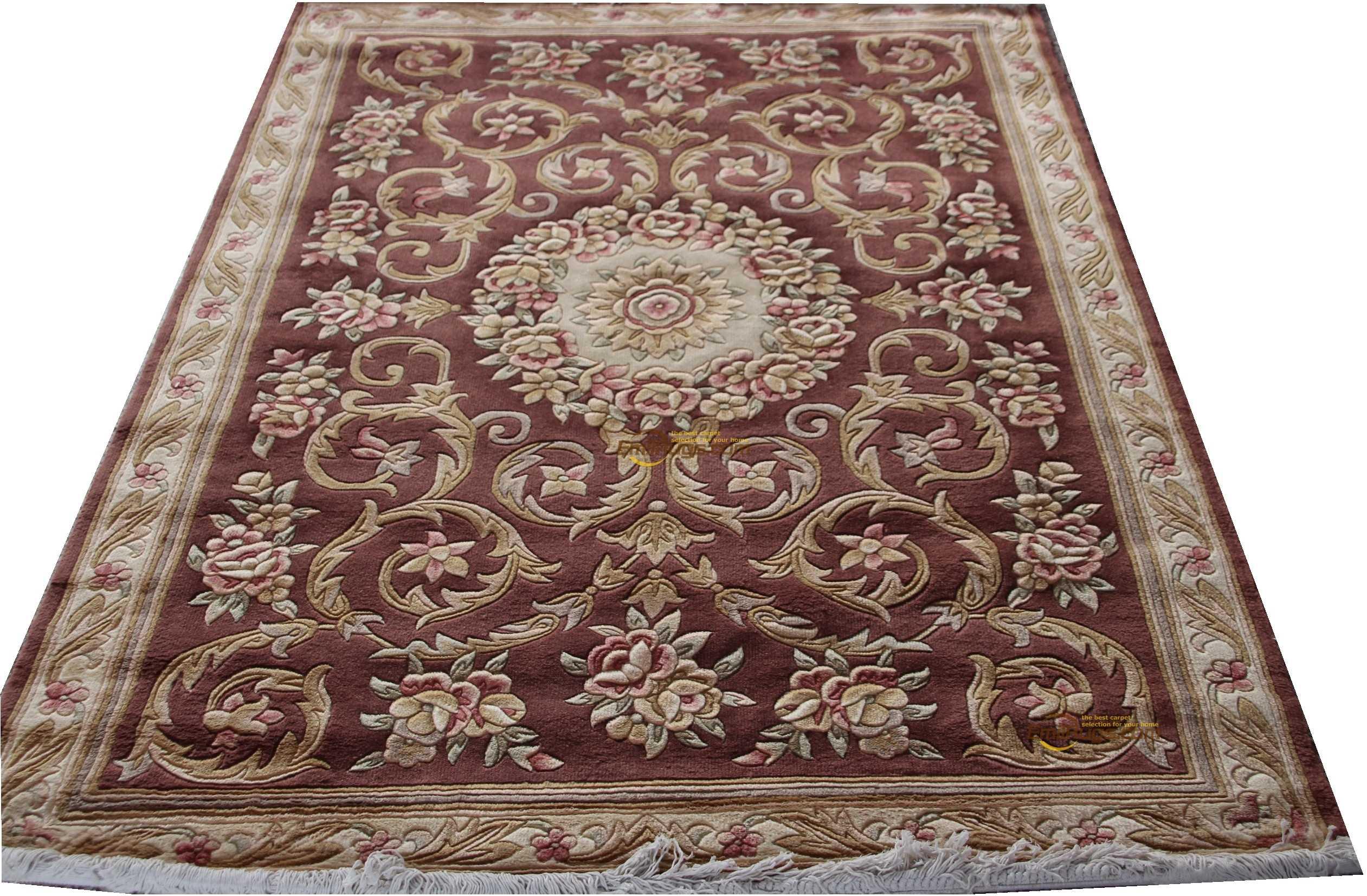 Tapis français en laine sur tapis de Savonnerie en peluche épais fabriqué à la machine tapis fait sur commande 137X198 cm 4.5 'X6. 5' CZ-Z 438gc85savyg28