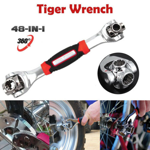 48 in 1 Socket Tiger Wrench In One Socket Works With Spline Bolts Universal Size